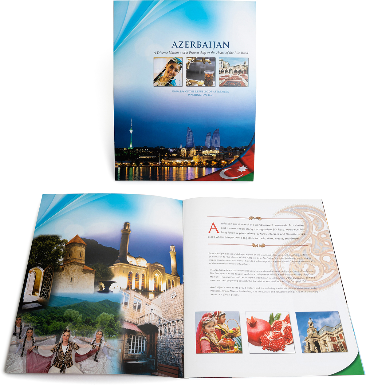 Digital printing catalog with saddle stitch