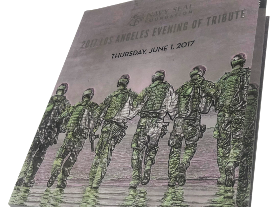 Tribute Book Print Sample - Digital, Saddle Stitch