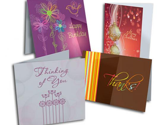 Personalized note cards, stationery, holiday cards